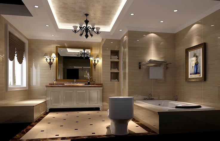 欧式 复式 80后 室内设计 家装 卫生间图片来自张邯在高度国际-御翠尚府6的分享