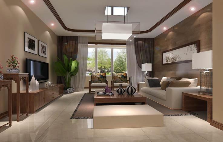 二居 中式 白领 室内设计 装修 客厅图片来自张邯在高度国际-纳帕澜郡的分享