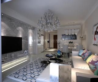 卓达明郡90㎡两居室现代案例