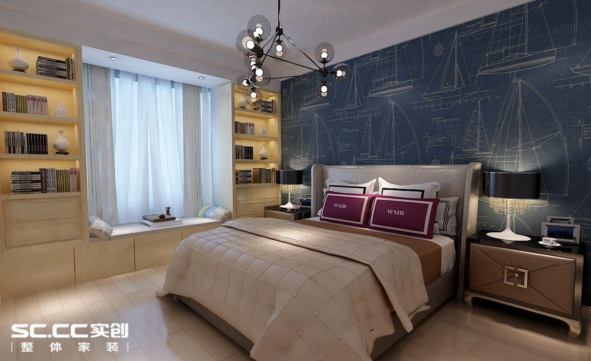 四居 北欧 卧室图片来自哈尔滨实创装饰阿娇在翠湖天地184平北欧风格四居室的分享