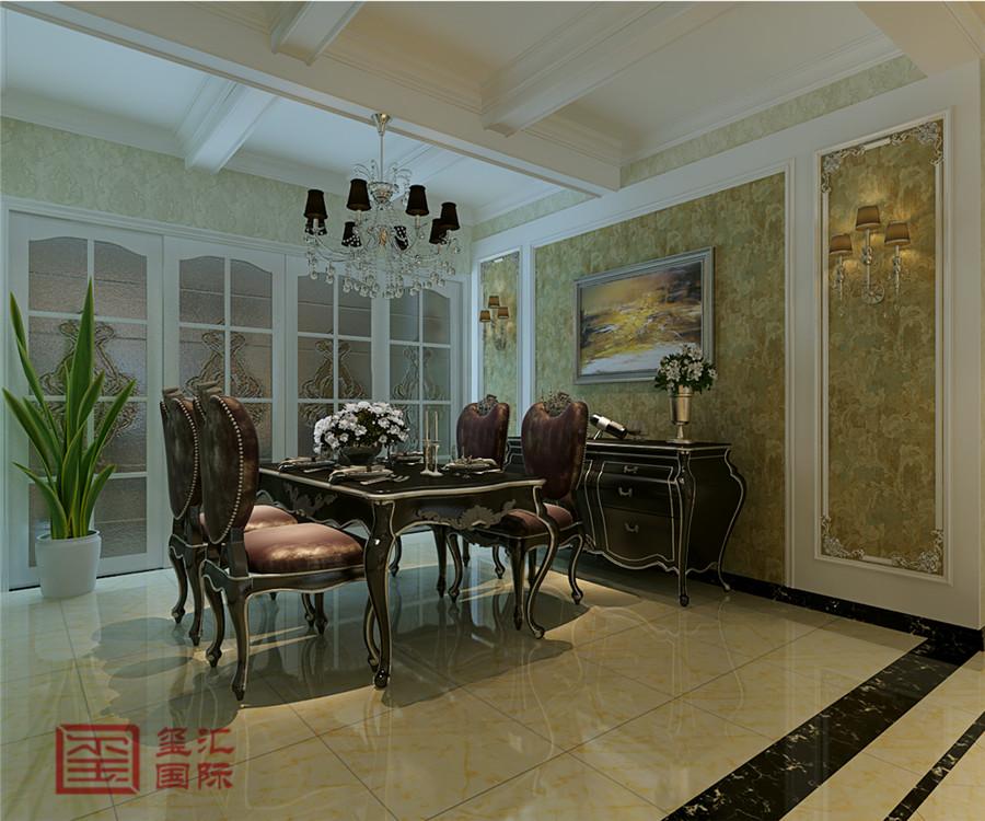欧式 三室 玺汇国际 东胜紫御府 餐厅图片来自河北玺汇国际装饰公司在古典清新179平欧式三室的分享