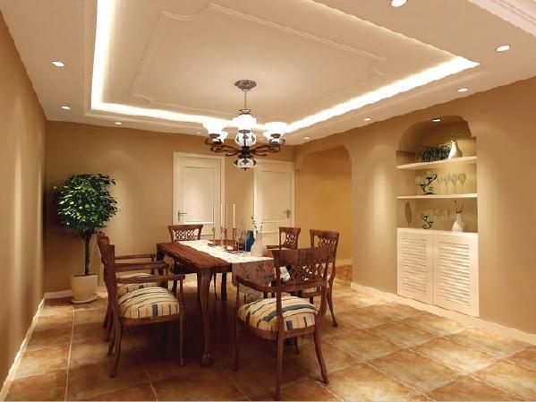 餐厅空间有点压抑,所以拆除原有储藏间增大餐厅空间 同时重新设计的隔墙增加了内嵌式的壁柜解决了储藏空间。