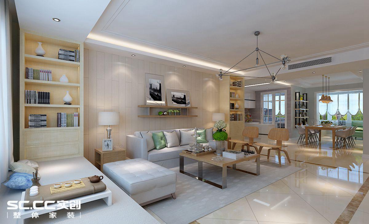 四居 北欧 客厅图片来自哈尔滨实创装饰阿娇在翠湖天地184平北欧风格四居室的分享