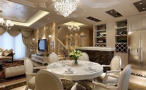 欧式 复式 温馨 餐厅图片来自居众装饰WX在欧式家装风情的分享
