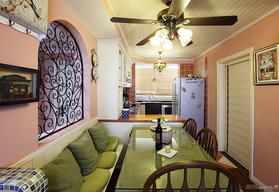 欧式 三居 餐厅图片来自西安紫苹果装饰工程有限公司在风憬天下的分享