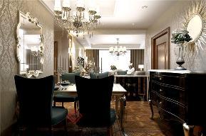 新古典 三居 白领 收纳 小资 餐厅图片来自方林装饰在华润紫云府130平米装修案例的分享