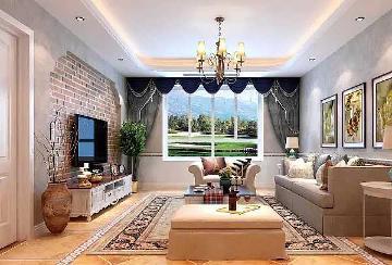 130平米三室二厅装修雅致小美式