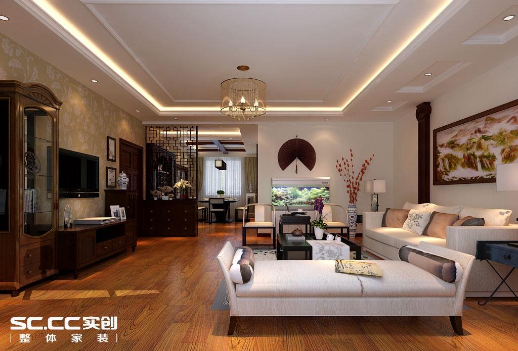 四居 中式 客厅图片来自哈尔滨实创装饰阿娇在省公务员小区220平简中式四居室的分享