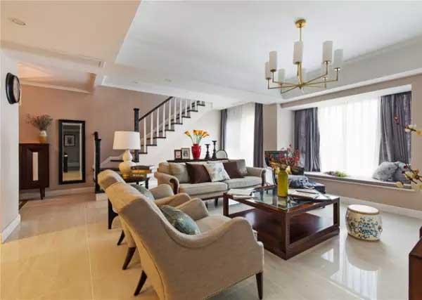 简约 小资 客厅图片来自上海潮心装潢设计有限公司在聚龙新苑120平简约复式楼装修的分享