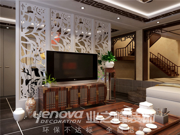 现代中式 装修设计 业之峰 客厅图片来自业之峰太原分公司在映像西班牙小区的分享