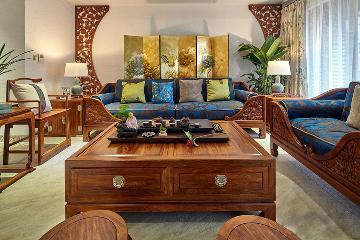 万科蓝山-古色古香中式家居欣赏