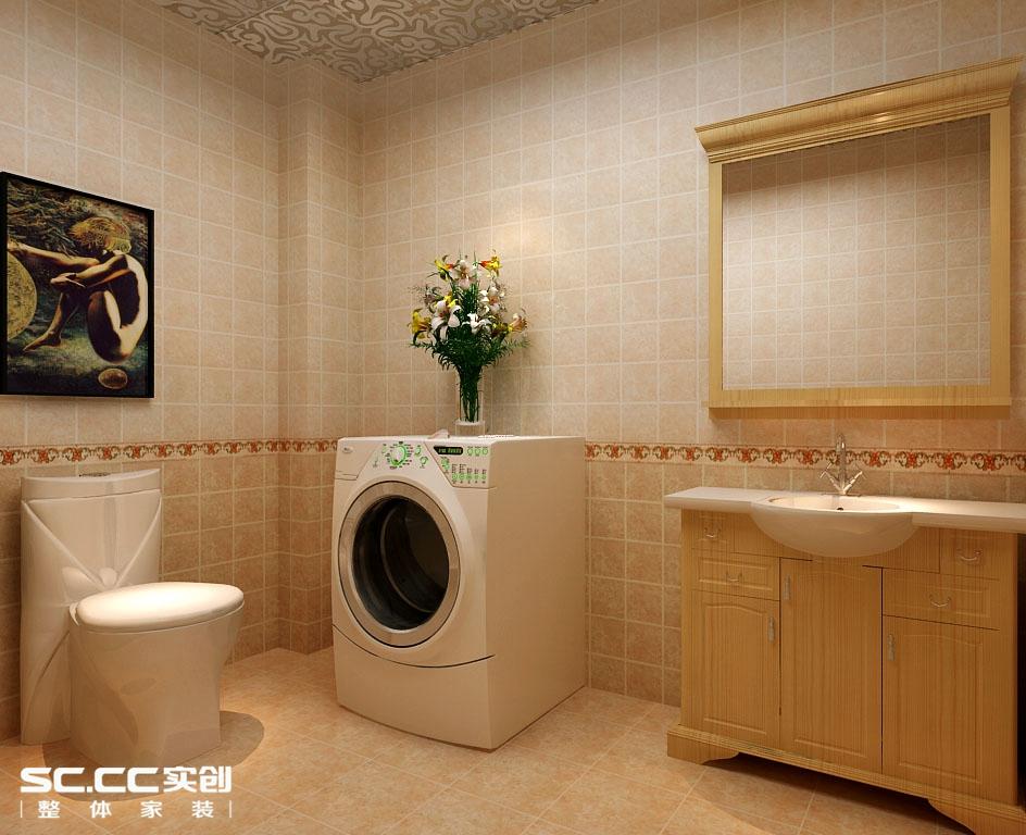 四居 中式 卫生间图片来自哈尔滨实创装饰阿娇在省公务员小区220平简中式四居室的分享