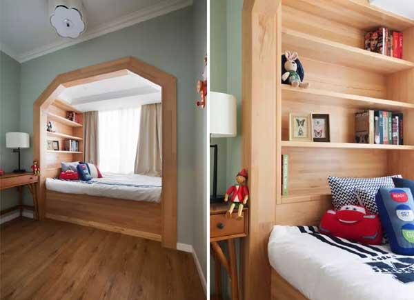 简约 小资 儿童房图片来自上海潮心装潢设计有限公司在聚龙新苑120平简约复式楼装修的分享