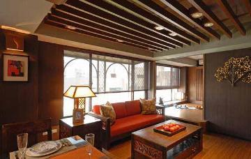89平中式二居室打造独到质感空间