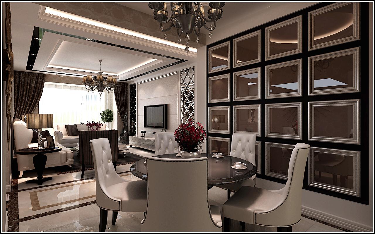 三居 保利康桥 欧式风格 餐厅图片来自百家设计小刘在保利康桥149平欧式风格的分享