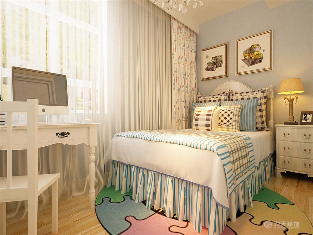 三居 混搭 现代 收纳 小资 床 窗帘 卧室图片来自阳光放扉er在力天装饰- 枫蓝国际140㎡的分享