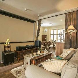 80平三居室装修美式设计彰显品位