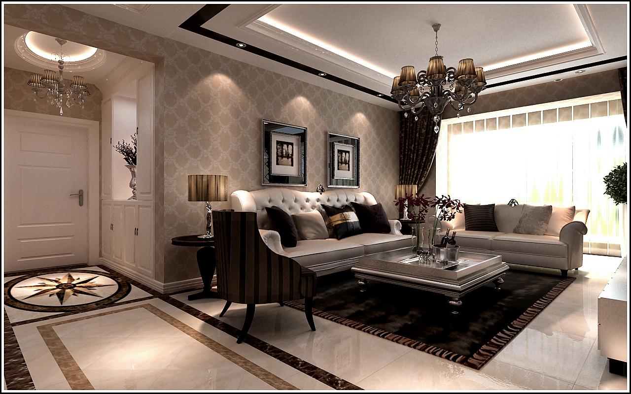 三居 保利康桥 欧式风格 客厅图片来自百家设计小刘在保利康桥149平欧式风格的分享