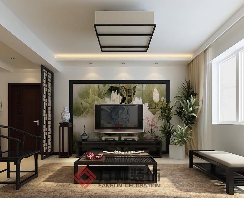 中式 混搭 三居 白领 收纳 80后 小资 客厅图片来自方林装饰在第五大道花园129平中式风格案例的分享