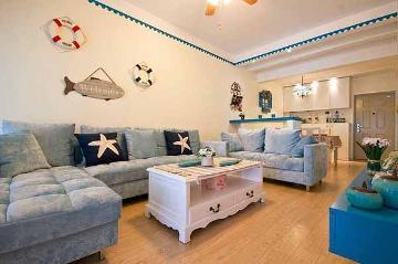 80平两室装修打造甜美地中海风格