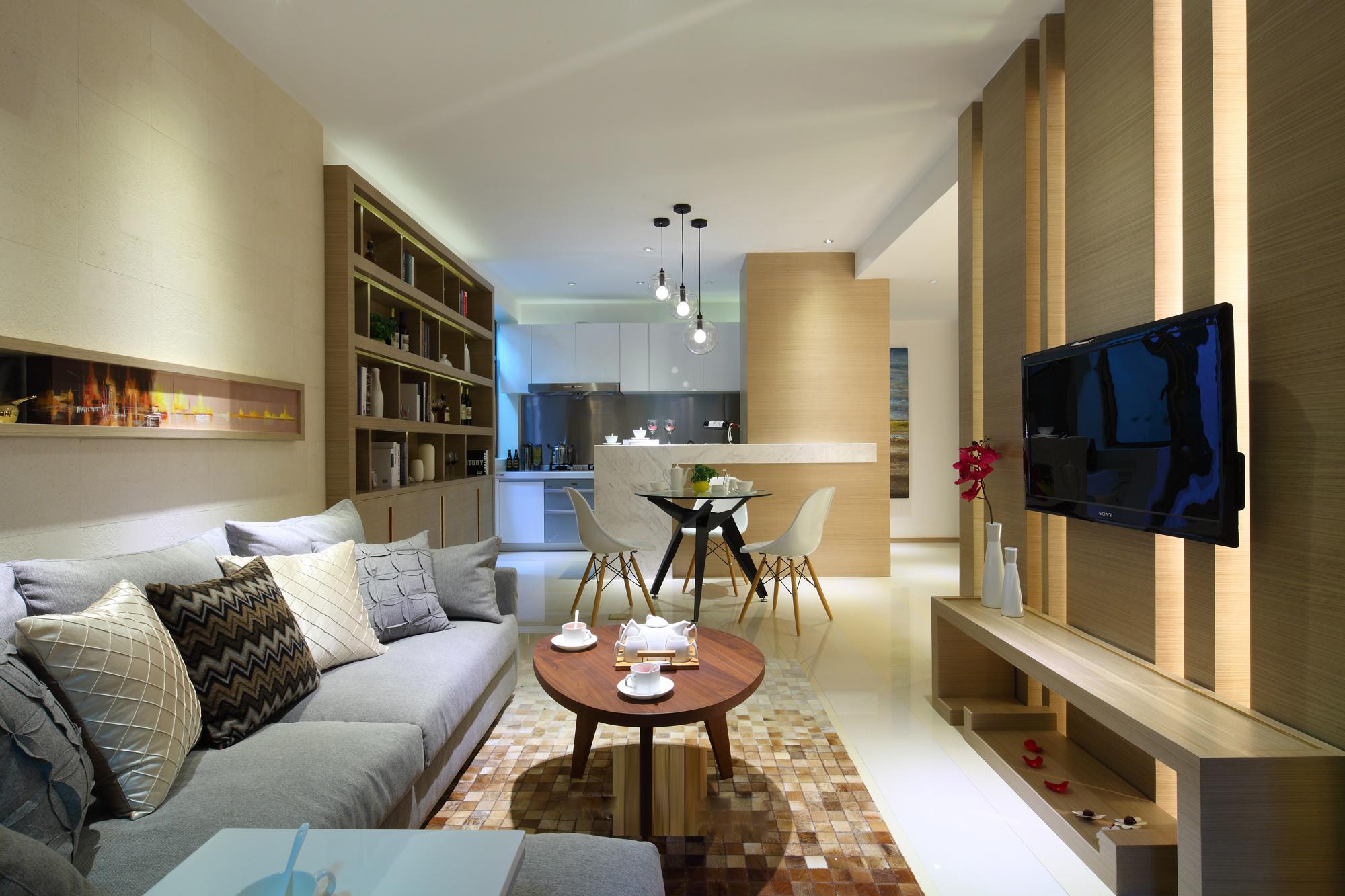 日式 客厅图片来自安豪装饰在世茂翡翠首府-116平-日式风格的分享