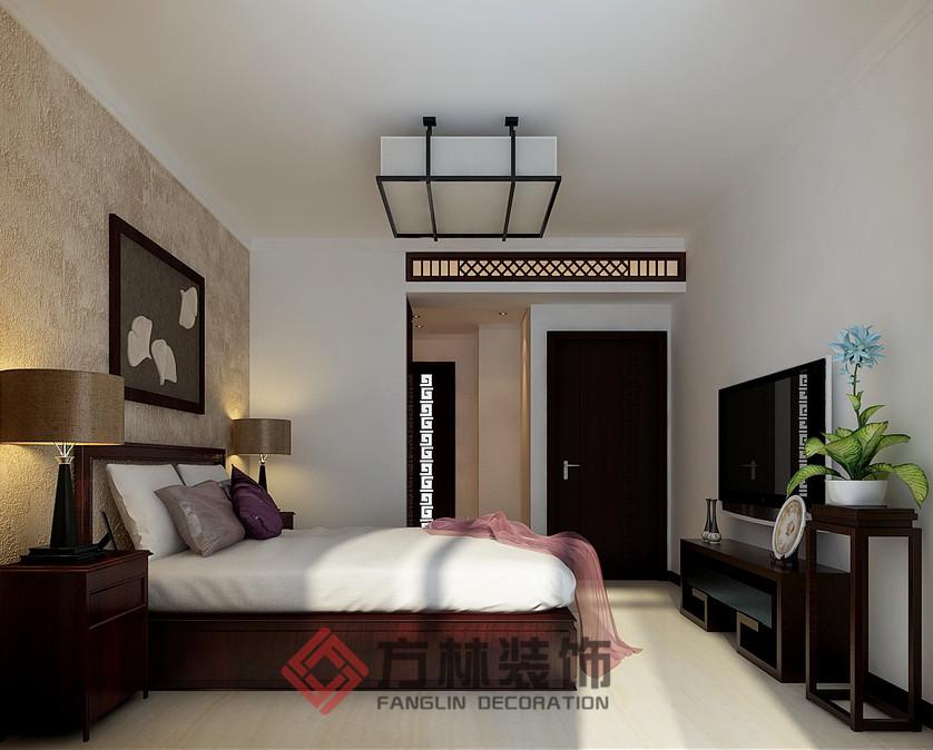 中式 混搭 三居 白领 收纳 80后 小资 卧室图片来自方林装饰在第五大道花园129平中式风格案例的分享