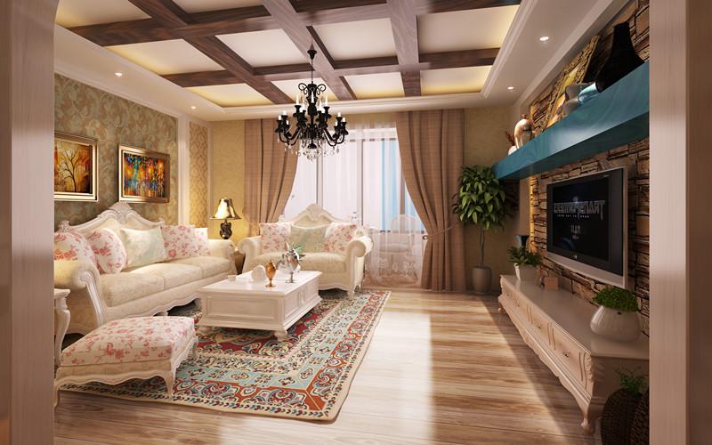 欧式 三居 客厅图片来自轻舟装饰-90后的华仔在金地朗悦-108平米-欧式风格的分享