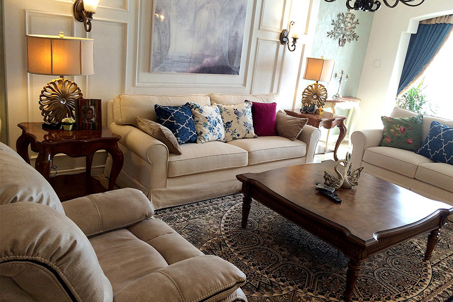 三居 白领 收纳 旧房改造 80后 小资 美式 舒适 温馨 客厅图片来自fy1831303388在炜岸城1期的分享