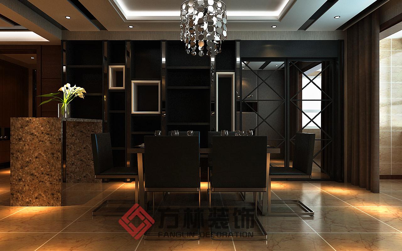 港式 简约 混搭 别墅 收纳 80后 小资 餐厅图片来自方林装饰在御景新世界199平港式风格案例的分享