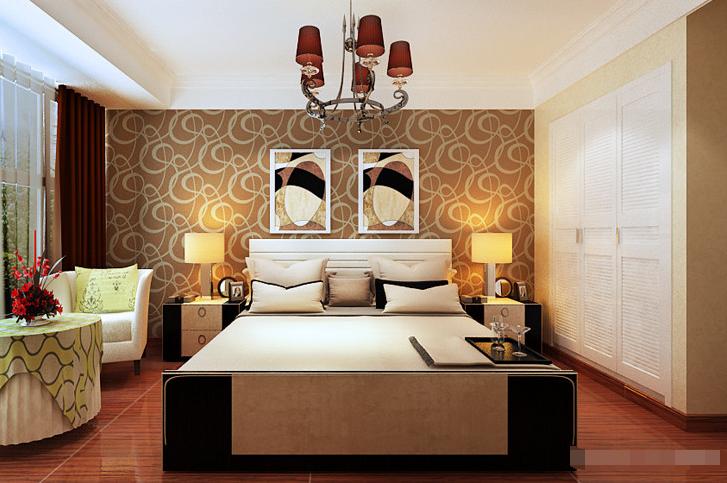 简约 三居 卧室图片来自西安紫苹果装饰工程有限公司在风憬天下2的分享