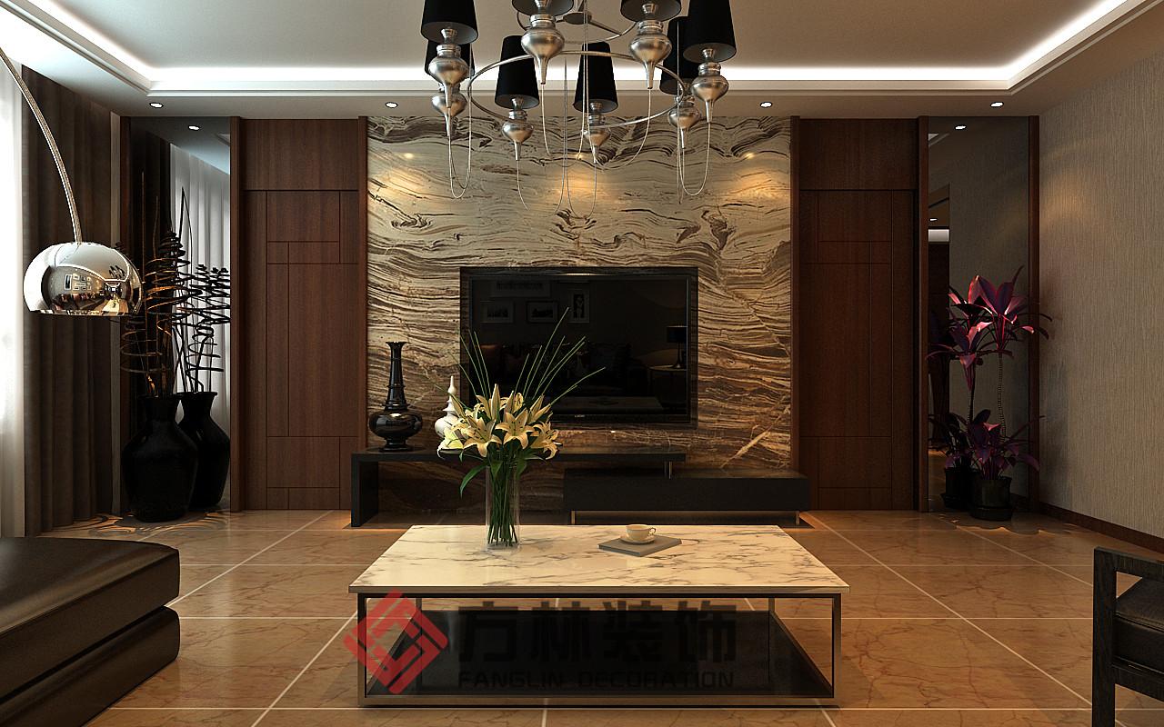 港式 简约 混搭 别墅 收纳 80后 小资 客厅图片来自方林装饰在御景新世界199平港式风格案例的分享