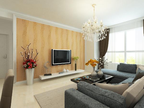 本案以现代风格为主题,整体色调为白色,搭配木色现代家具,使整体空间显得简洁干净。