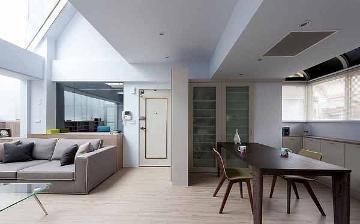 106平米复式楼装修简约设计效果