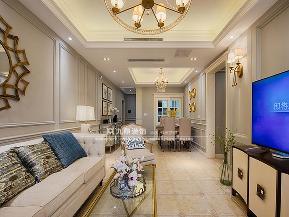 美式 四居 舒适 客厅图片来自九鼎建筑装饰工程有限公司成都分在中德英伦联邦的分享