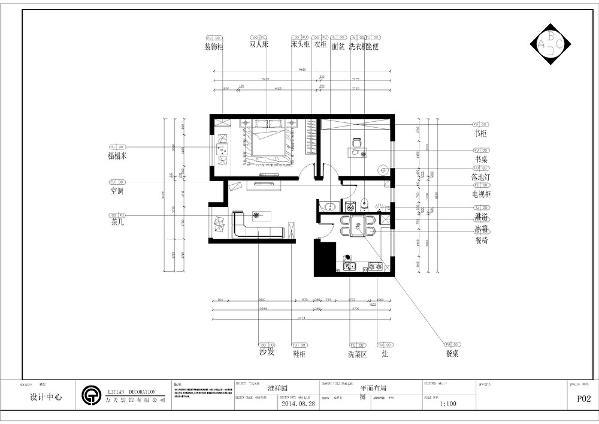 从入户门进来左手边就是客厅,宽敞明亮,采光极好。整体户型方正规则,功能划分明确,便于设计。