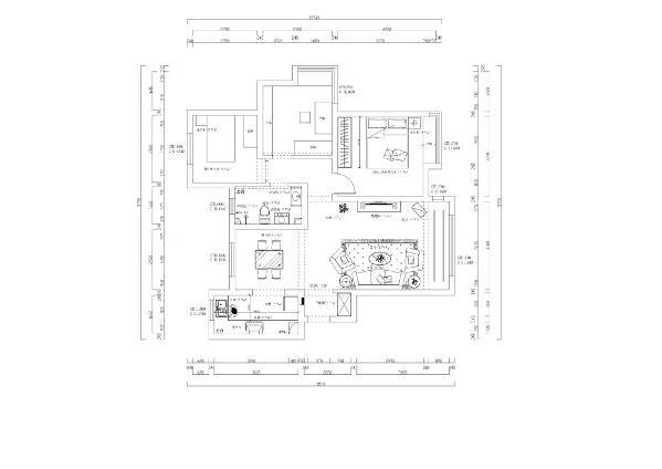 该户户型为两室一厅一卫,该户空间较为规整。入户门右侧为客厅客厅空间比较规整,窗户空间比较大。所以该户型的客厅采光比较好。相对通透