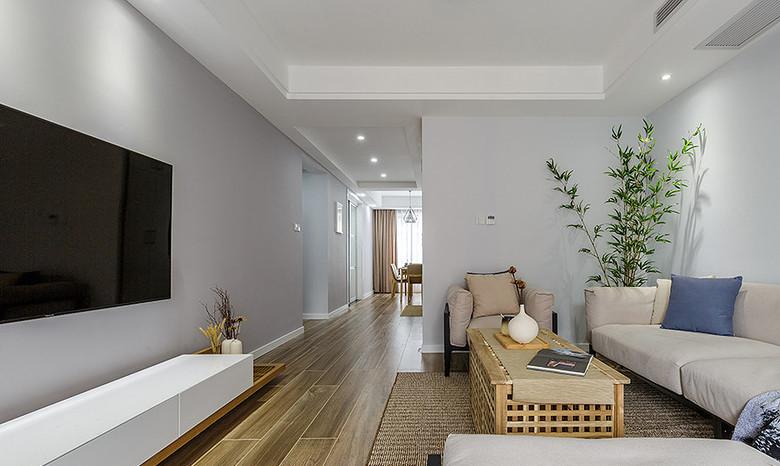 简约 三居 客厅图片来自一道伍禾装饰在领秀慧谷原木清新风设计的分享