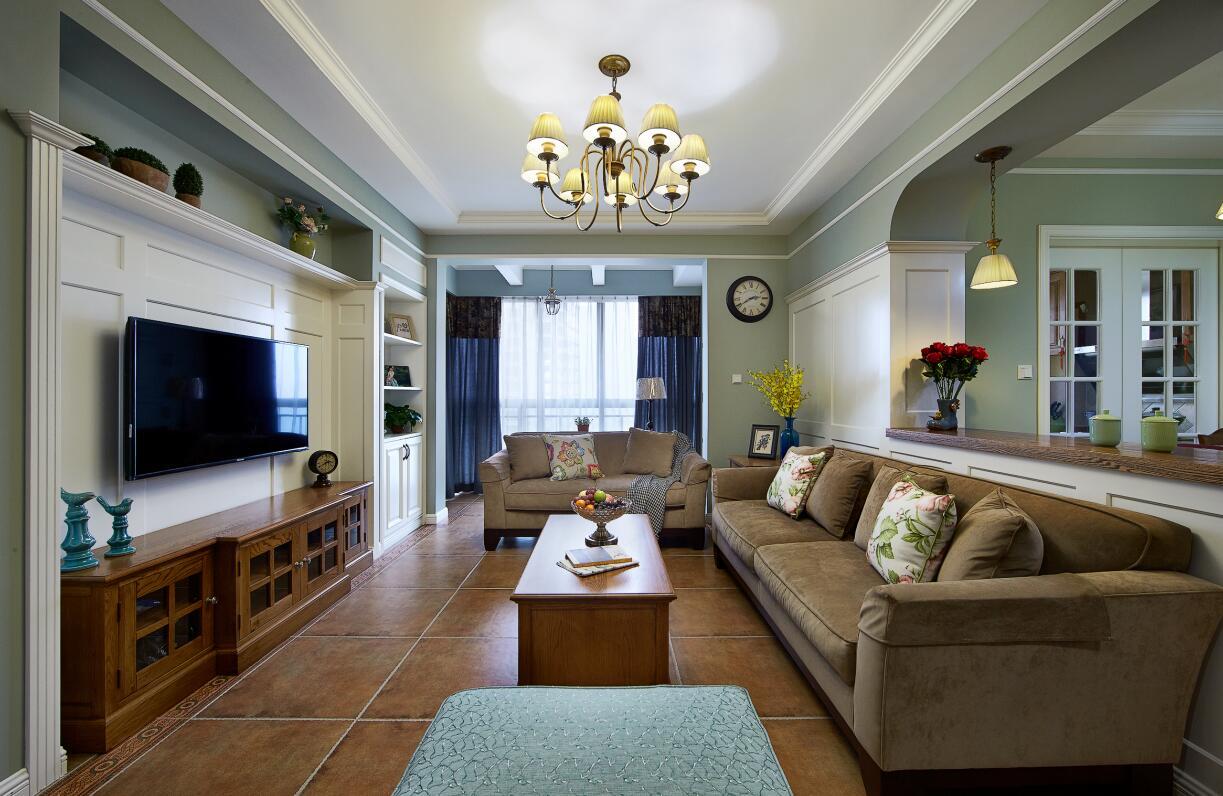 简约 欧式 田园 混搭 二居 三居 别墅 收纳 旧房改造 客厅图片来自紫禁尚品国际装饰高晓媛在简单大气的美式风格的分享