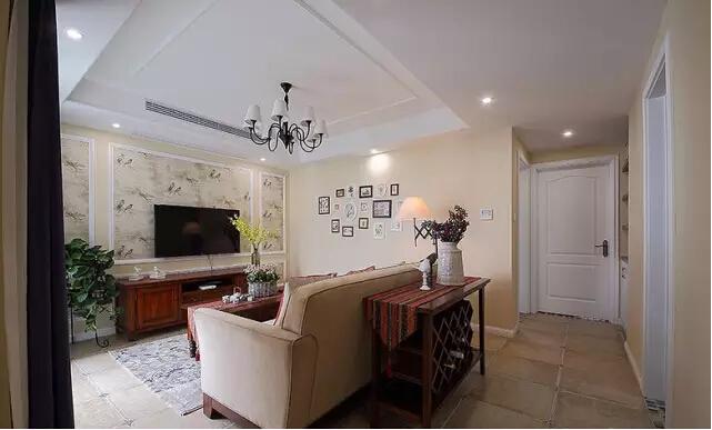 美式 二居 客厅图片来自实创装饰上海公司在沙发不靠墙妥妥搞定奇葩户型的分享