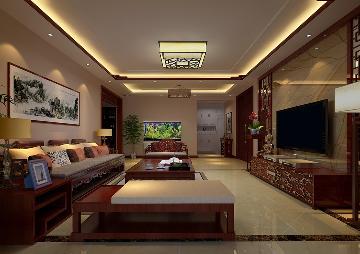 三居室中式装修效果图
