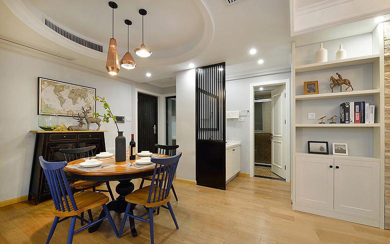 餐厅图片来自家装大管家在舒服有格调 87平简约清新时尚居的分享