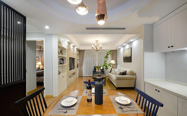 客厅图片来自家装大管家在舒服有格调 87平简约清新时尚居的分享