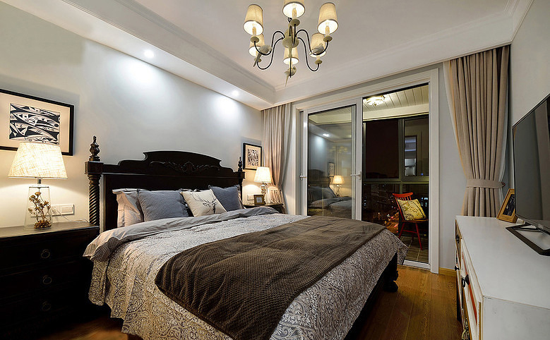 卧室图片来自家装大管家在舒服有格调 87平简约清新时尚居的分享