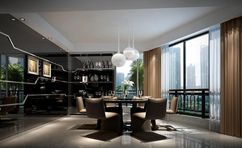 简约 餐厅图片来自用户1254416087在丽晶大厦-现代简约-190平的分享