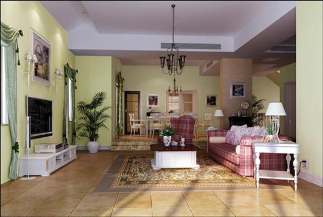客厅图片来自北京居然元洲装饰小尼在牛驼孔雀城独栋别墅田园风格的分享