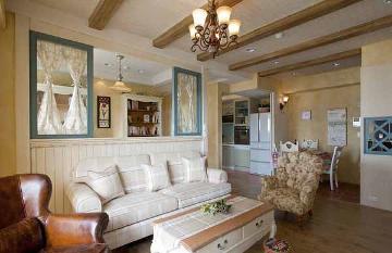 83平美式乡村风格二室装修样板间