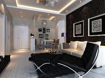 天津梵客家装83平两居室现代简约