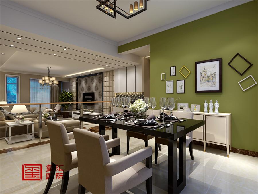简约 跃层 玺汇国际 餐厅图片来自河北玺汇国际装饰公司在春江花月169平错层简约风格的分享