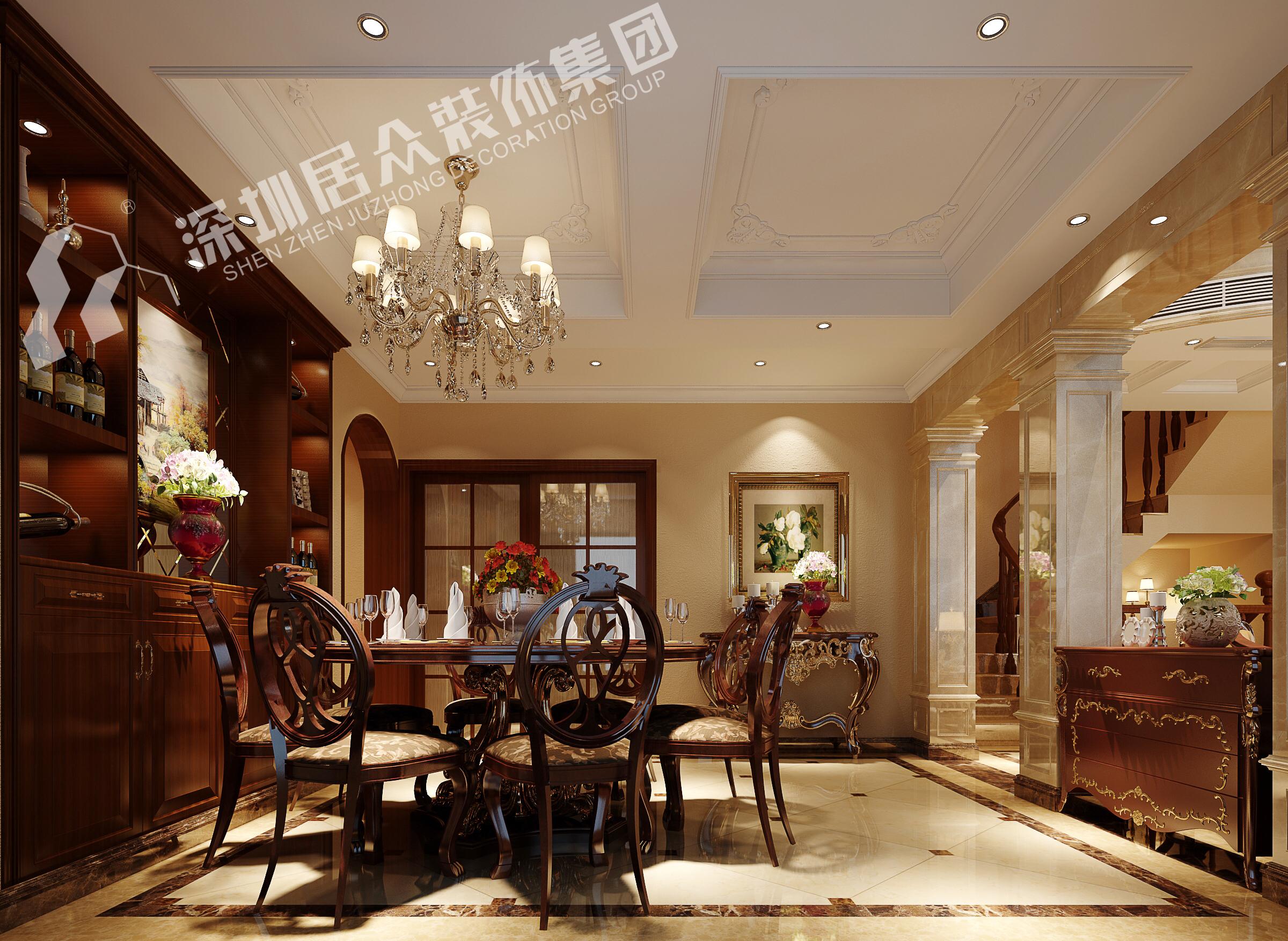 欧式 别墅 小资 餐厅图片来自半城烟沙5949758236在复地花屿城——欧式风格的分享