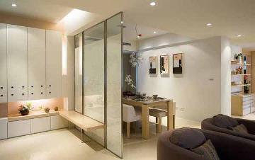 95平简约三室装修开放设计有弹性